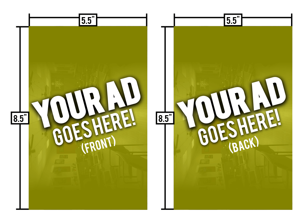 Full Ad (8.5″x5.5″) – Double Sided