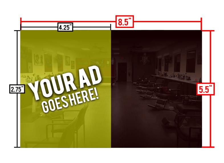 Half Page Ad (4.25″x5.5″)